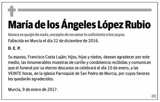 María de los Ángeles López Rubio