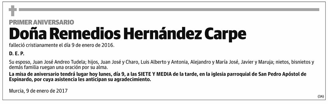 Remedios Hernández Carpe