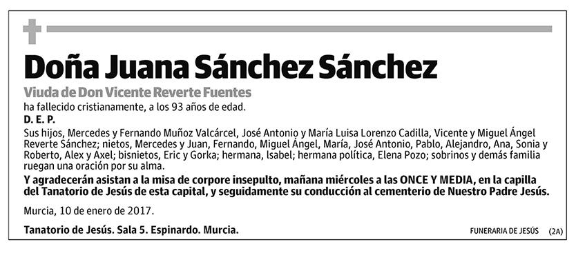 Juana Sánchez Sánchez