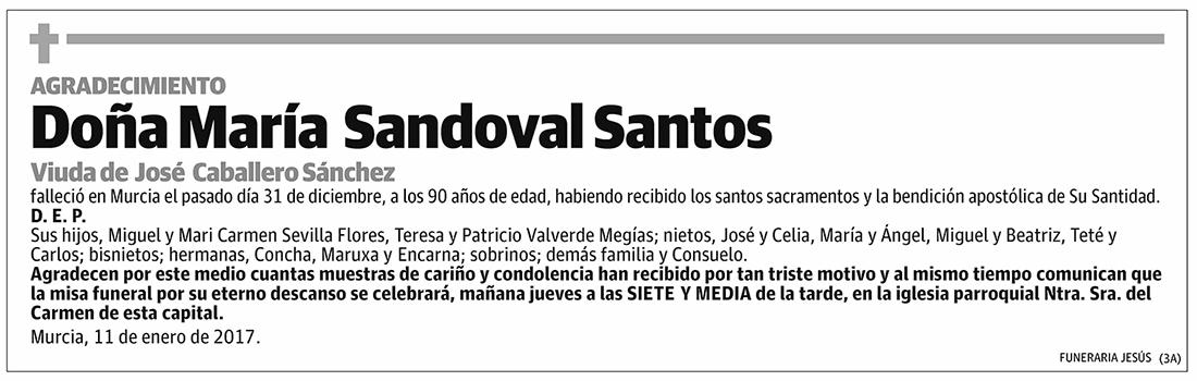 María Sandoval Santos