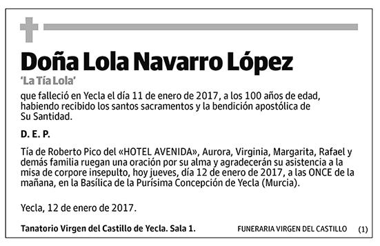 Lola Navarro López