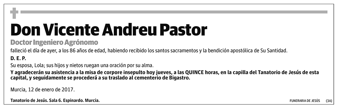 Vicente Andreu Pastor