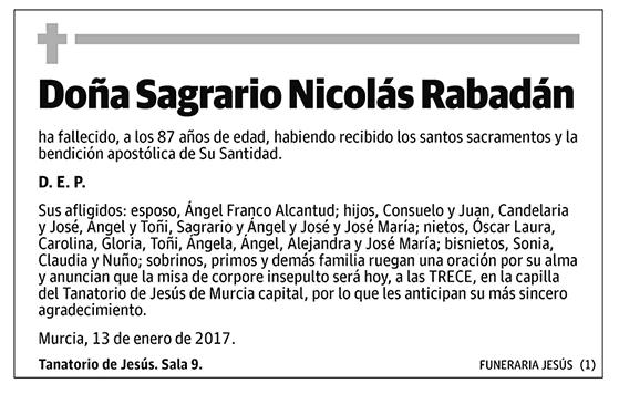 Sagrario Nicolás Rabadán
