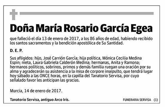 María Rosario García Egea