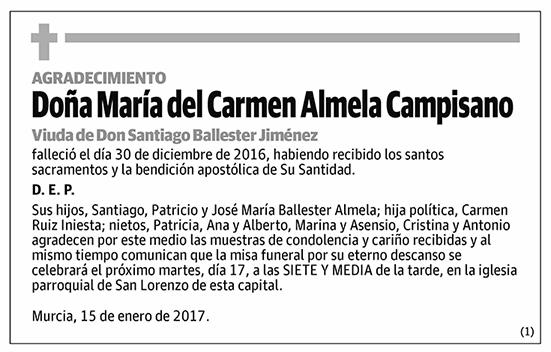 María del Carmen Almela Campisano