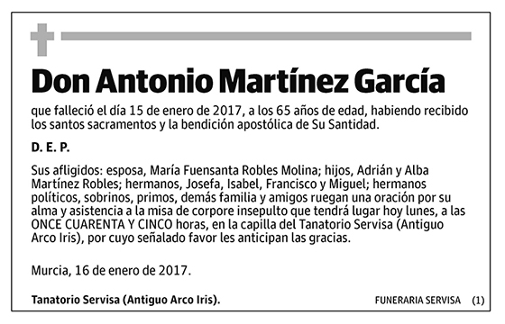 Antonio Martínez García