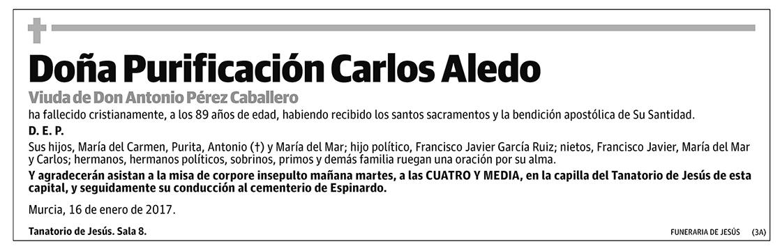 Purificación Carlos Aledo