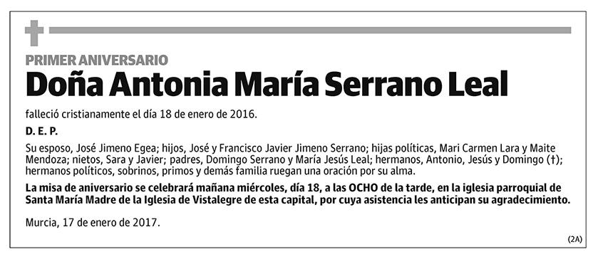 Antonia María Serrano Leal