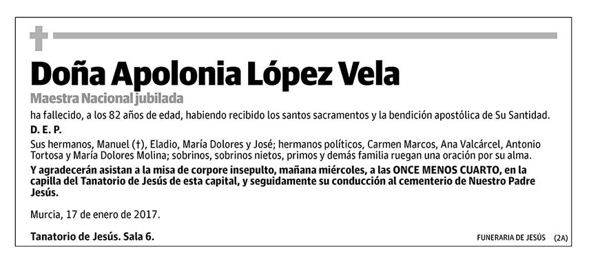 Apolonia López Vela