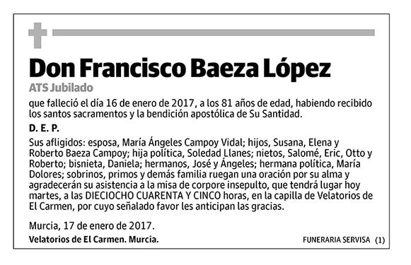 Francisco Baeza López