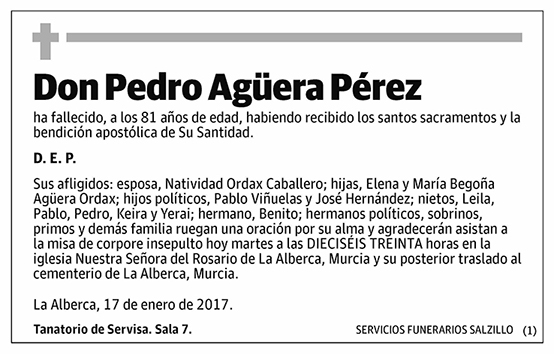 Pedro Agüera Pérez
