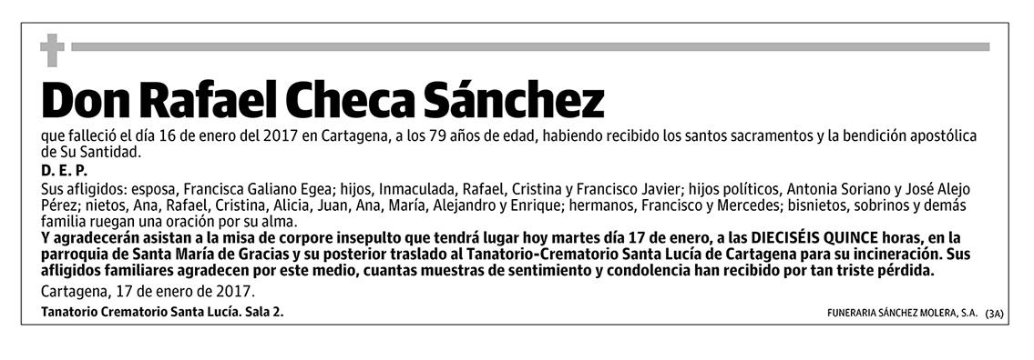 Rafael Checa Sánchez