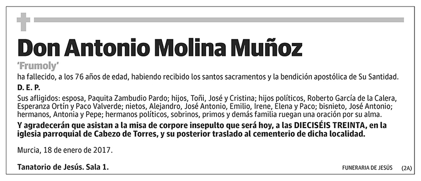Antonio Molina Muñoz