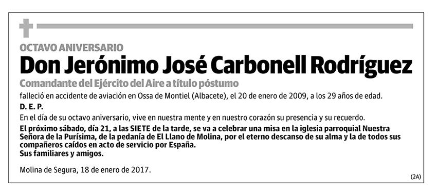 Jerónimo José Carbonell Rodríguez
