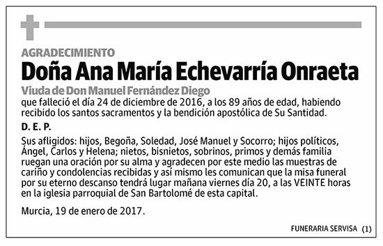 Ana María Echevarría Onraeta