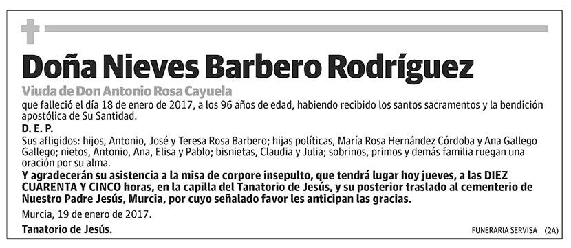 Nieves Barbero Rodríguez