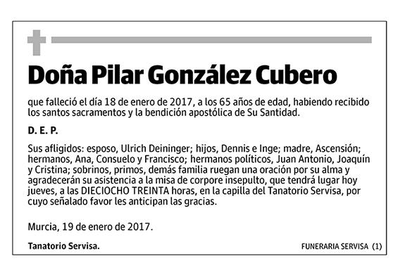 Pilar González Cubero