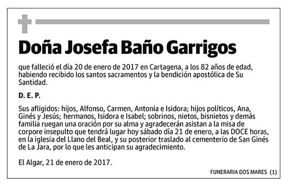 Josefa Baño Garrigos