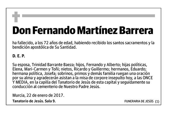 Fernando Martínez Barrera