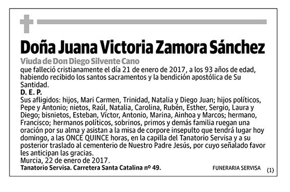 Juana Victoria Zamora Sánchez