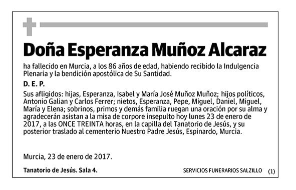 Esperanza Muñoz Alcaraz