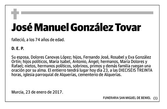 José Manuel González Tovar