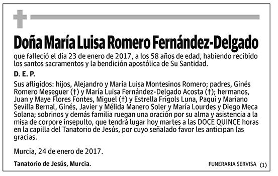 María Luisa Romero Fernández-Delgado