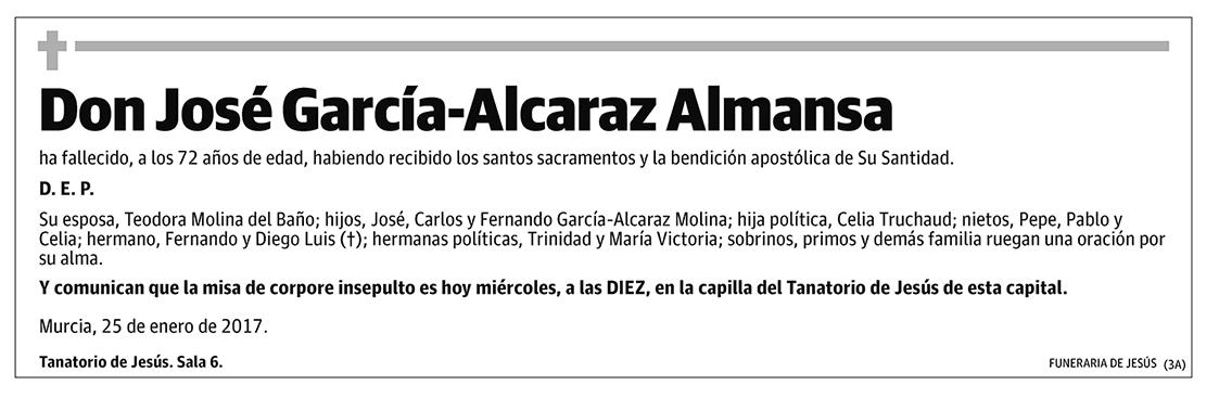 José García-Alcaraz Almansa