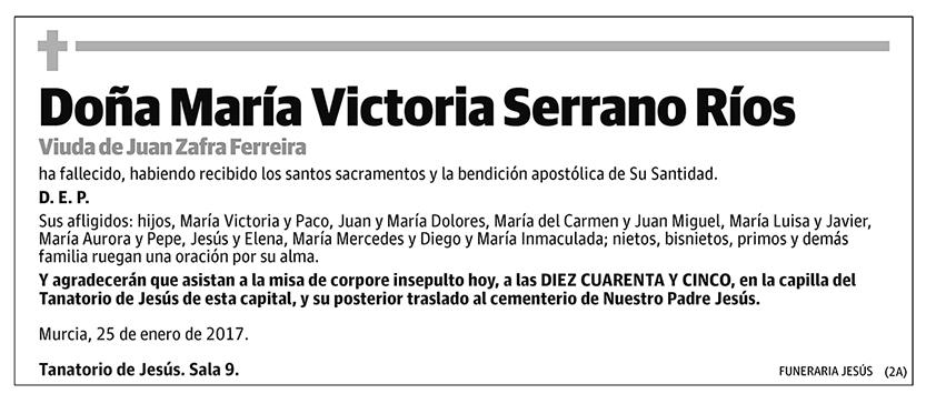 María Victoria Serrano Ríos