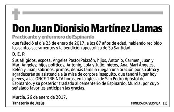 Juan Dionisio Martínez Llamas