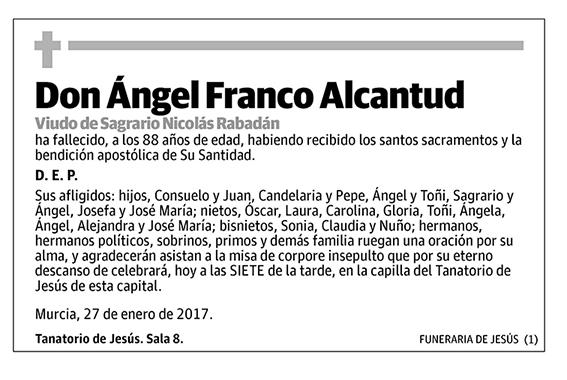 Ángel Franco Alcantud