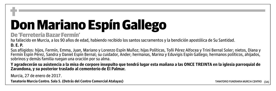 Mariano Espín Gallego