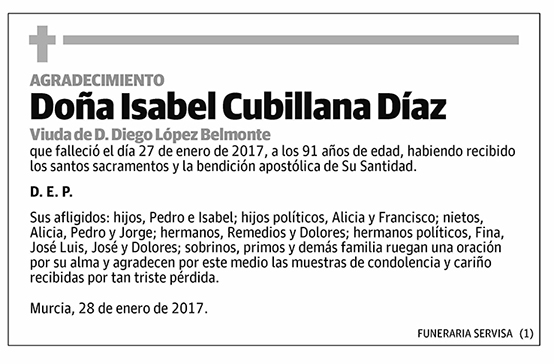 Isabel Cubillana Díaz