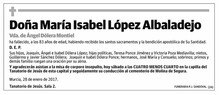 María Isabel López Albadalejo
