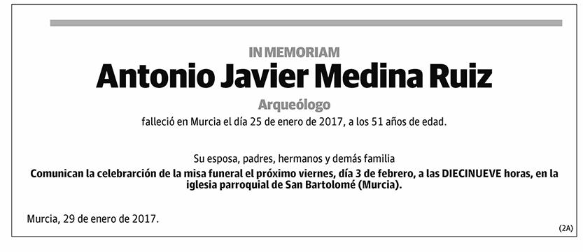 Antonio Javier Medina Ruiz