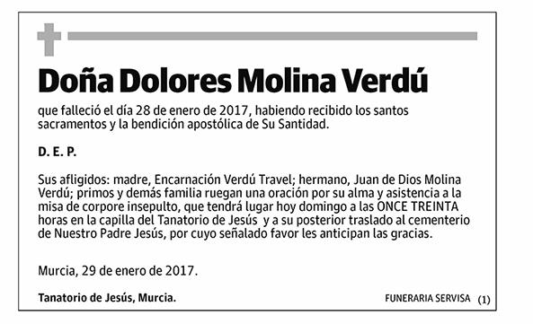 Dolores Molina Verdú