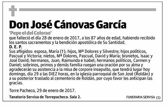 José Cánovas García