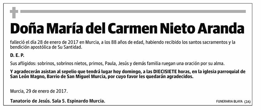 María del Carmen Nieto Aranda