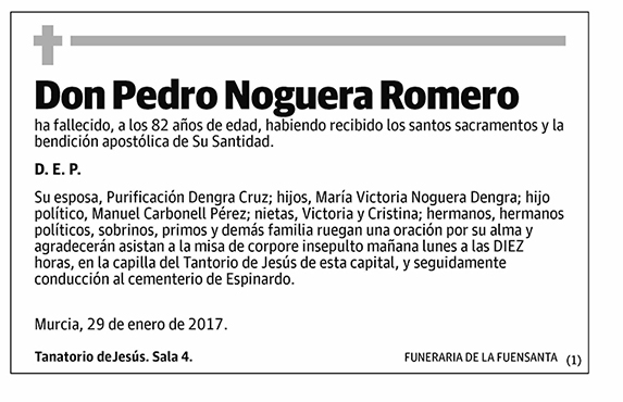 Pedro Noguera Romero