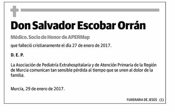 Salvador Escobar Orrán