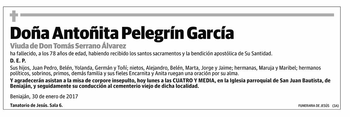 Antoñita Pelegrín García