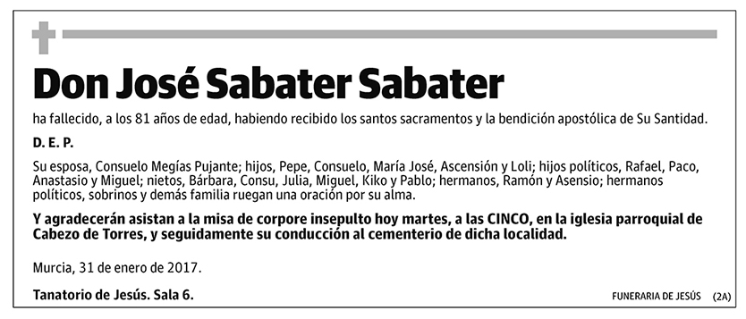 José Sabater Sabater