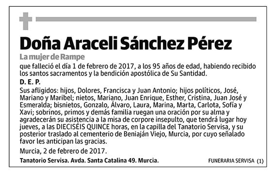 Araceli Sánchez Pérez