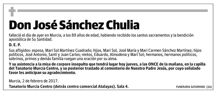 José Sánchez Chulia
