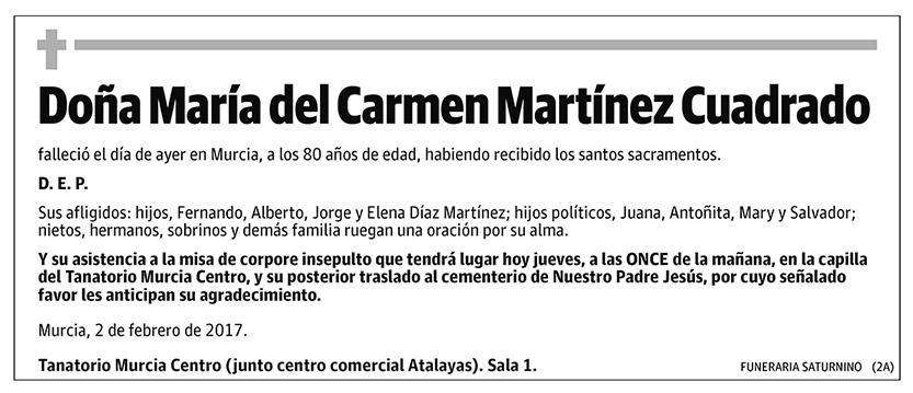 María del Carmen Martínez Cuadrado