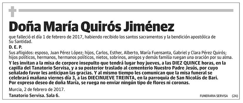María Quirós Jiménez