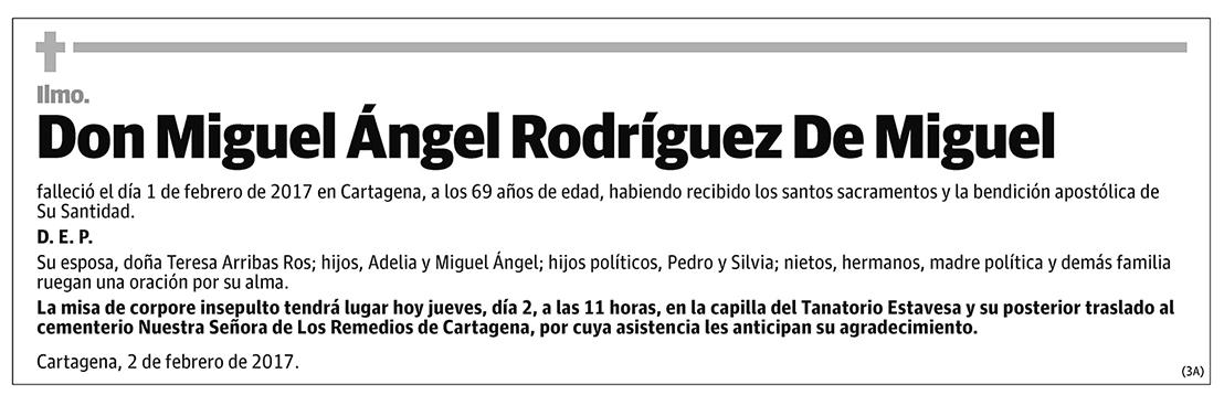 Miguel Ángel Rodríguez De Miguel
