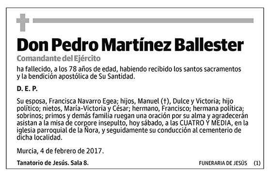 Pedro Martínez Ballester