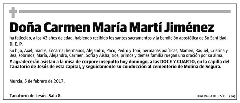 Carmen María Martí Jiménez