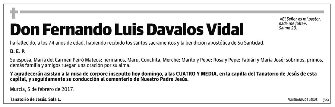 Fernando Luis Davalos Vidal